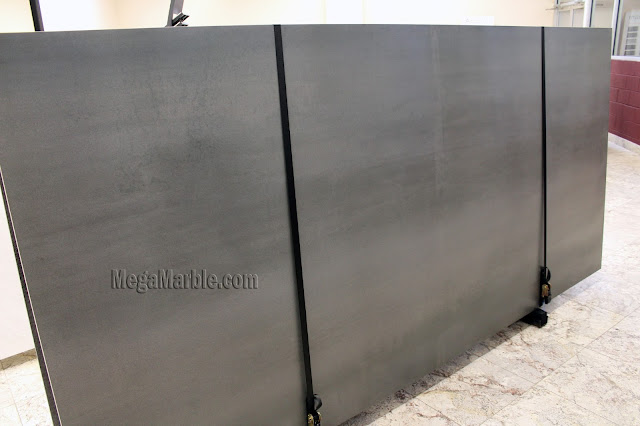 Gray Porcelain Slabs For Countertops & Shower Walls