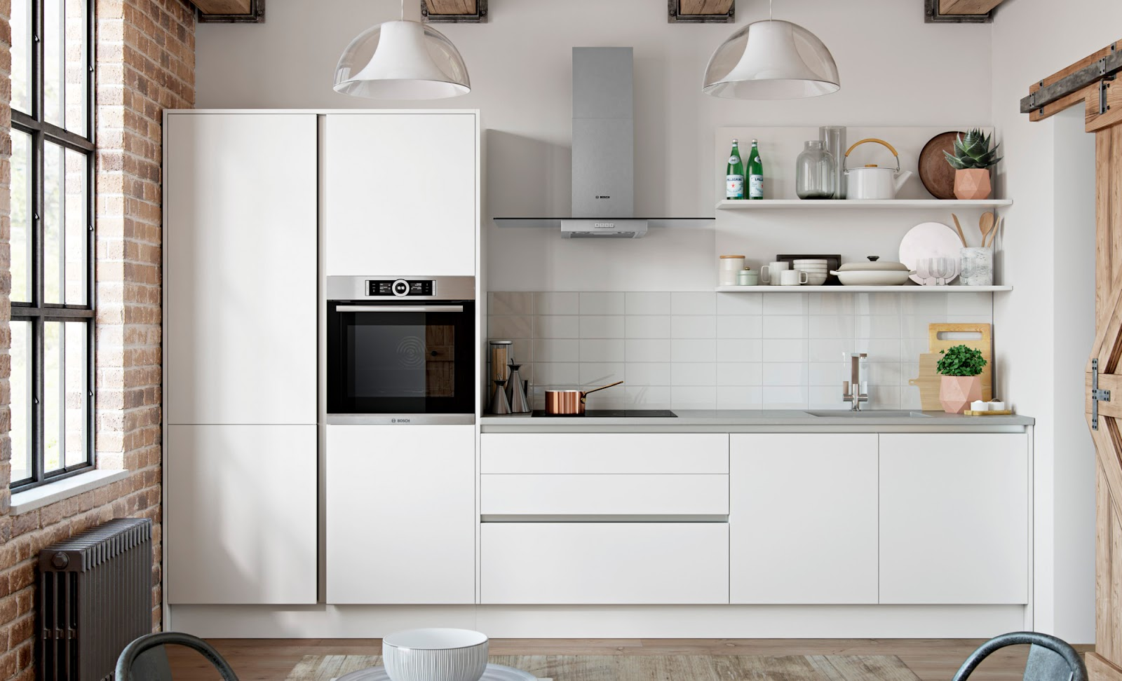 The kitchen yard made to order kitchen units doors and for Handless kitchen units