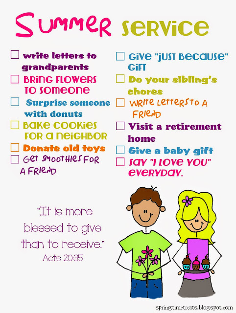Spring Time Treats Quot I M Bored Quot Chart Amp Summer Service Chart