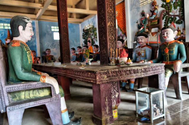 Pagode de Kampong Chamlong, salle de réunion militaire. Photo Christophe Gargiulo