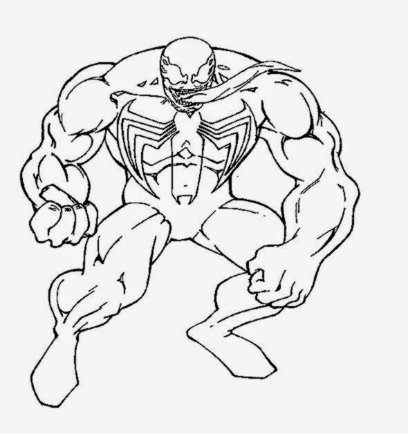 Venom Coloring Page. Spiderman Coloring Pages Printables Print Mask ...