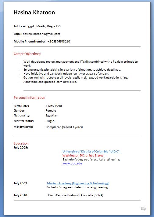 Cv Format For Postdoc | Cover Letter For Job Application