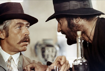 James Coburn as IRA dynamite expert and revolutionary John H. Mallory, Rod Steiger as Mexican bandit Juan Miranda, Directed by Sergio Leone
