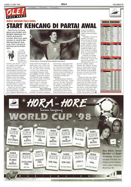 BURSA TARUHAN PIALA DUNIA 1998