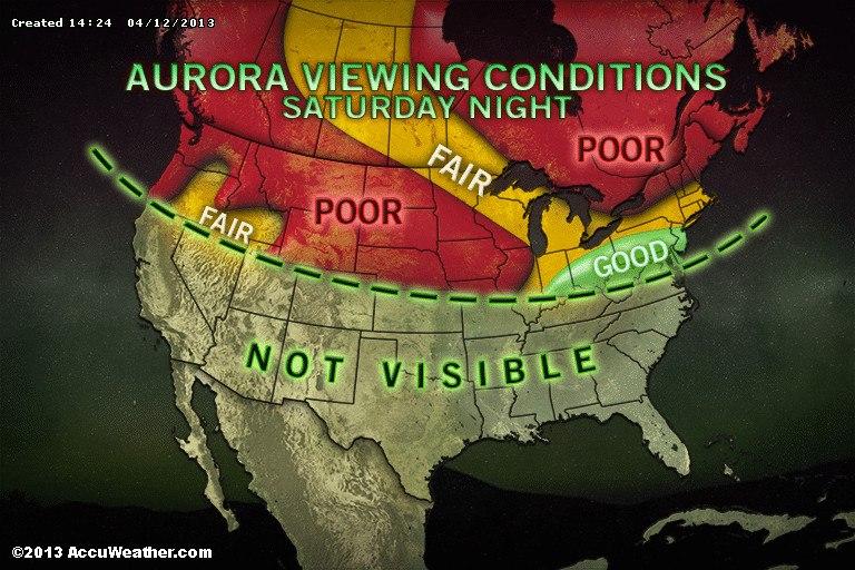Northern Lights Map Tonight