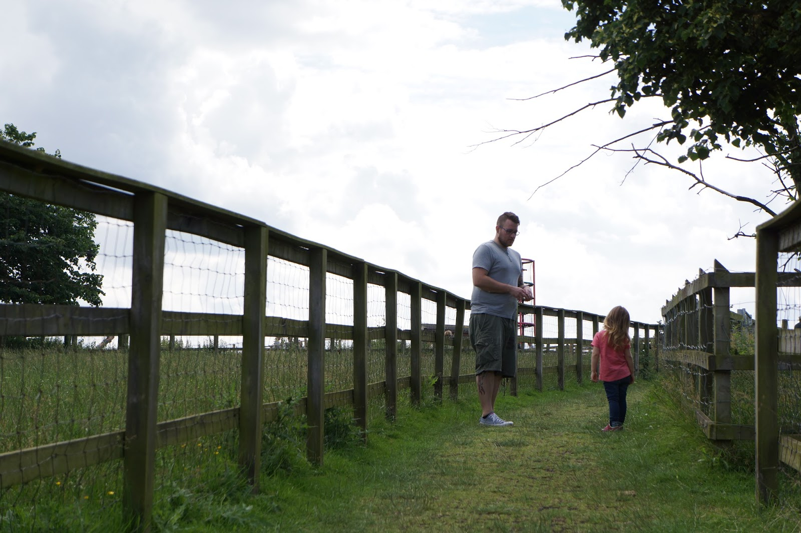 father and daughter at lee valley park farm