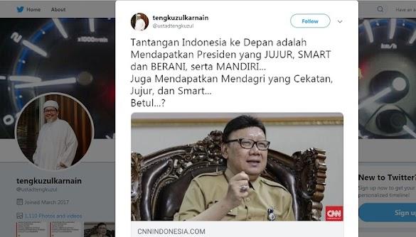 Mendagri Sebut Tantangan Indonesia Radikalisme & Terorisme, Ini Komentar Ustadz Tengku