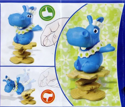 Игрушка бегемотик из серии киндеров Семейка бегемотов