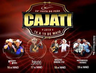 Cajati terá diversas atrações para comemorar o 27º. aniversário do município