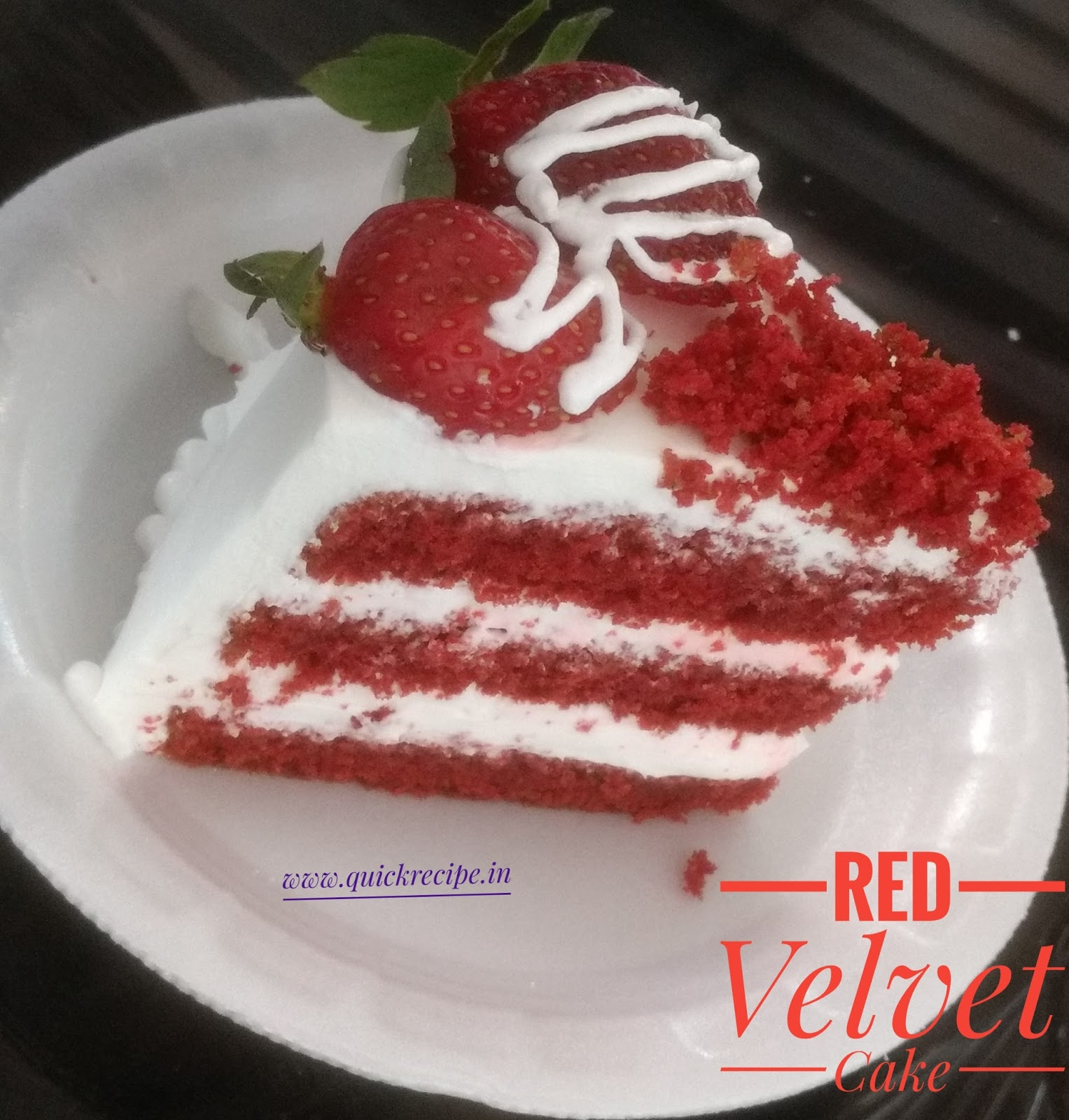 Simple Vanilla Cake Without Egg: Red Velvet Cake Without Oven