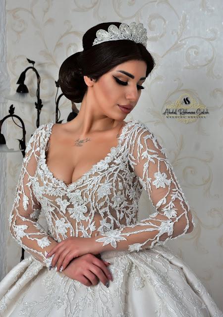 فساتين زفاف - تصميم عبد الرحمن صالح