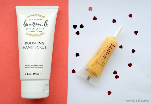 lauren p hand scrub cuccio butter review