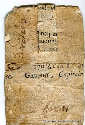 Dos, billet de confiance de Pont-du-Château, 63.