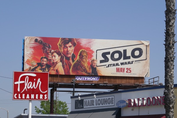 Solo Star Wars billboard