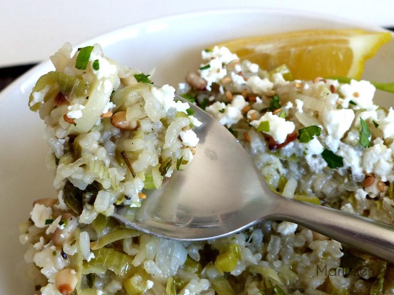 Riz aux poireaux à la grecque (Prasorizo)