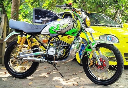 modifikasi motor yamaha rx king drag
