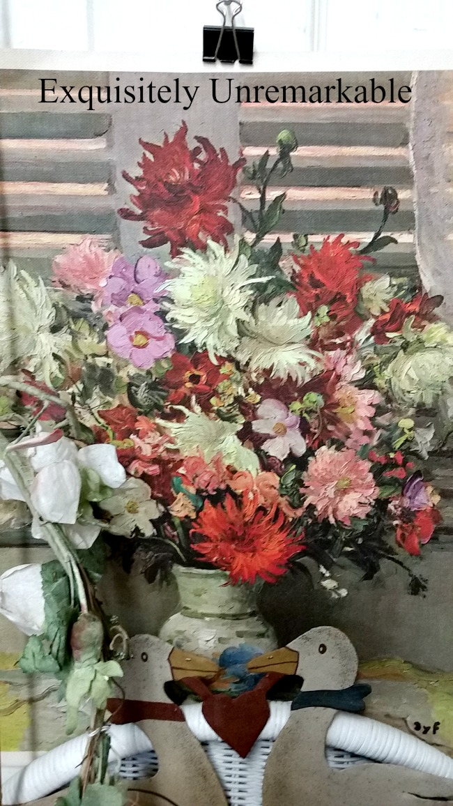 Thrift Store Floral Painting