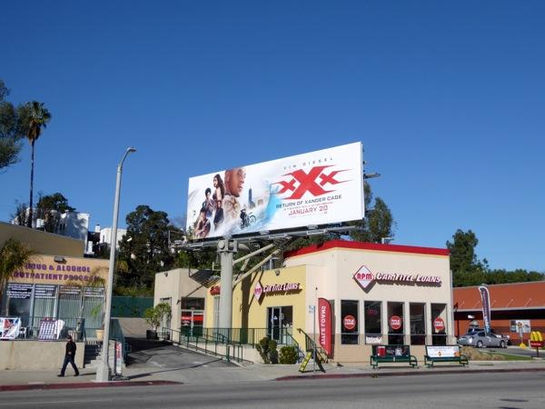 XXX Return of Xander Cage billboard