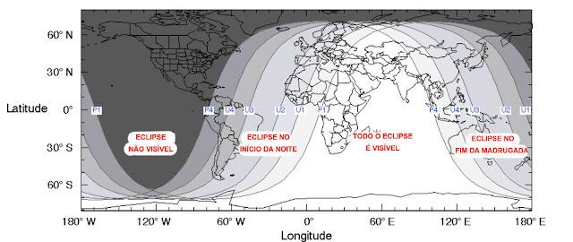 visibilidade do eclipse lunar de 27 de julho 2018