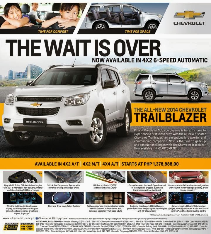 Updated Chevrolet Philippines Updates Trailblazer For 2014