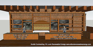 Waitress Station and Center Shelving Added to the Design Build Project-Shady Jacks Saloon New Bar Design