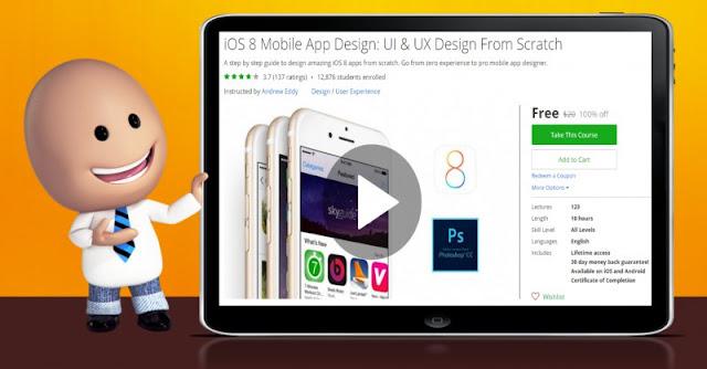 [100% Off] iOS 8 Mobile App Design: UI & UX Design From Scratch|Worth 20$