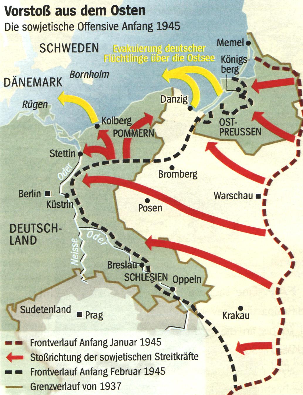 Pommern Karte Vor 1945.Flucht Aus Pommern 1945 Februar