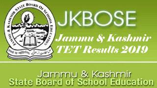 Jammu & Kashmir TET Results 2019, J&K TET Result 2019
