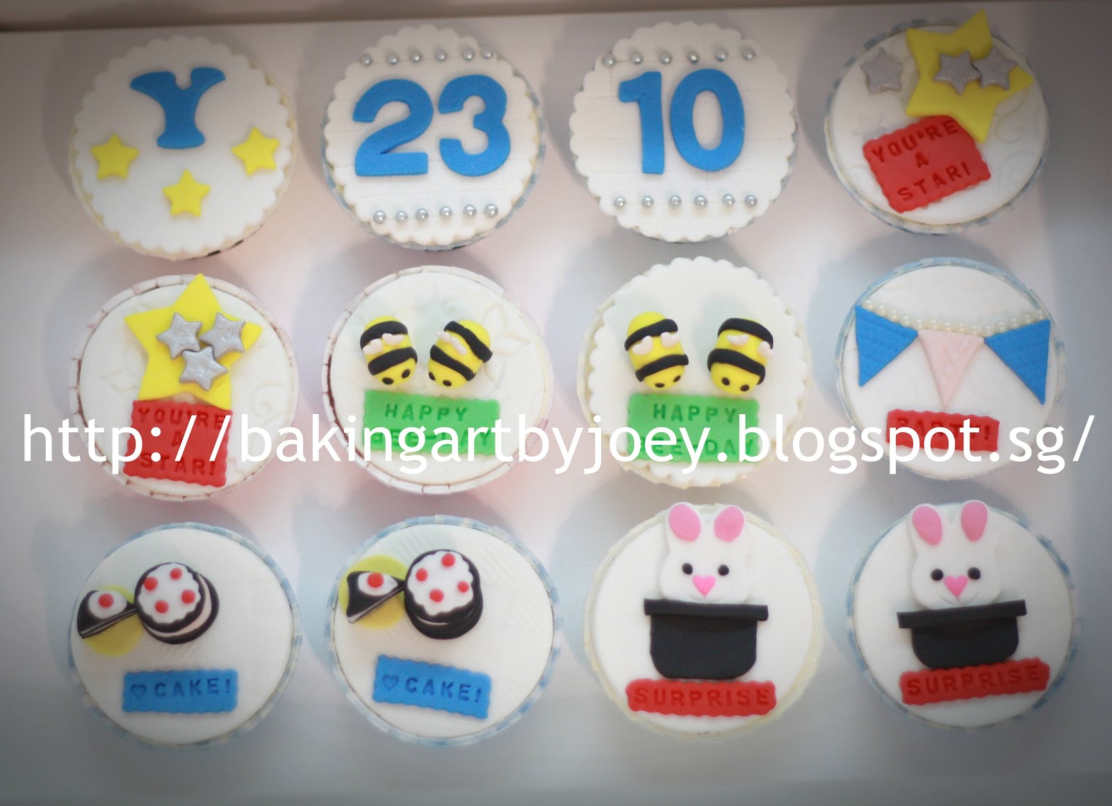 Baking Art By Joey Birthday Themed Cupcakes
