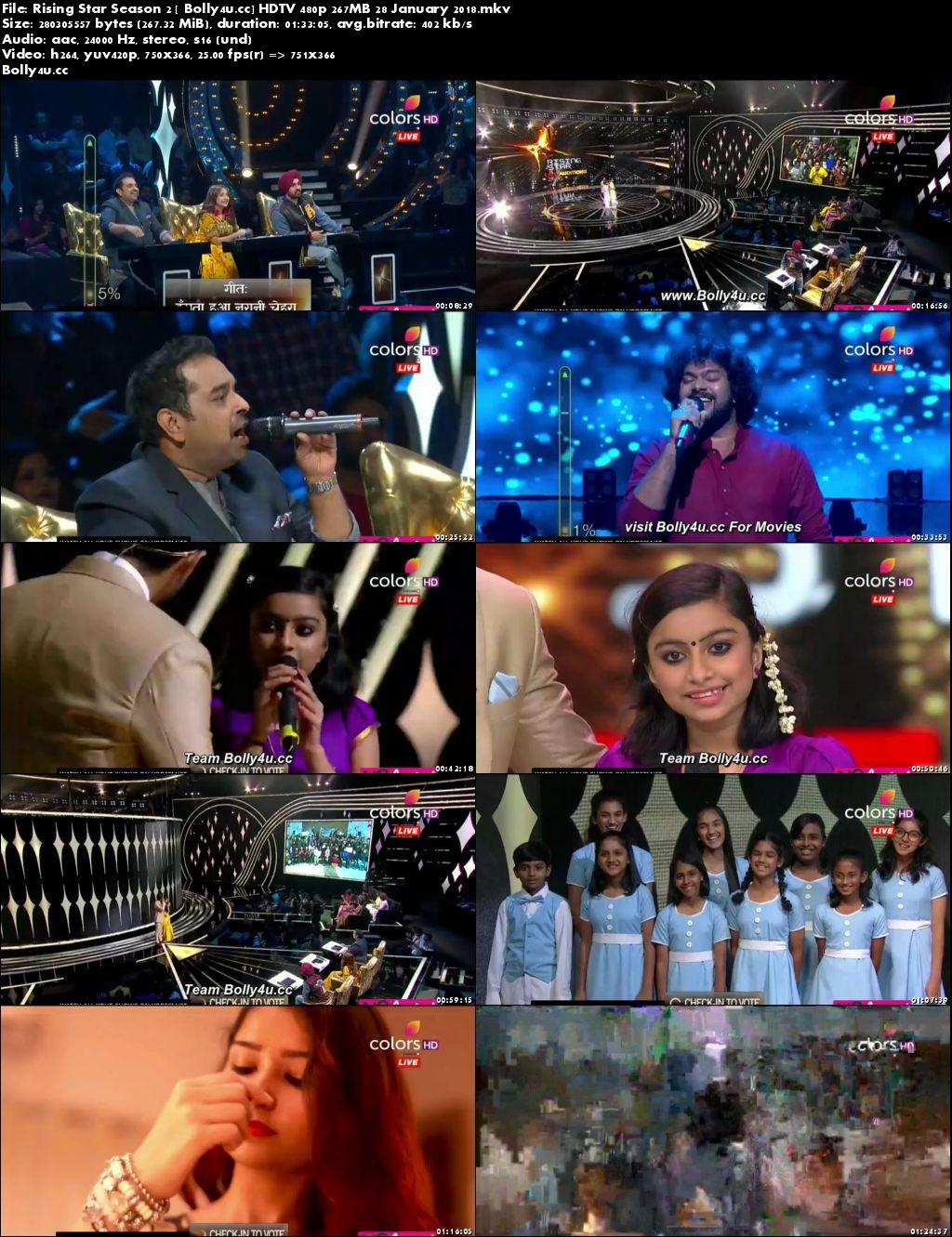 Rising Star Season 2 HDTV 480p 250MB 28 January 2018 Download
