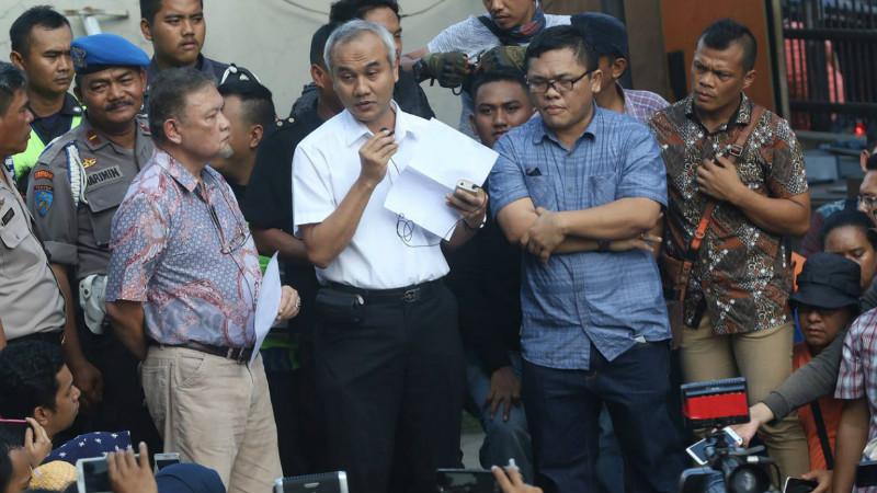 Manajemen RS Harapan Bunda, Jakarta menyampaikan keterangan kepada orangtua korban vaksin palsu