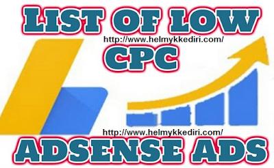 List CPC Adsense Bayaran Rendah 2017