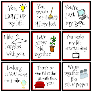 Around the Home Printable Valentines