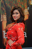 Mannara Chopra in deep neck Short red sleeveless dress Cute Beauty ~  Exclusive Celebrities Galleries 018.JPG