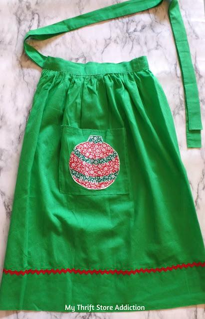 Vintage handmade Christmas apron