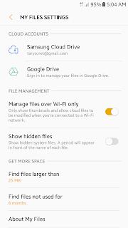 Tampilan setelah Update Android Nougat 7.0 pada Samsung A5 2017