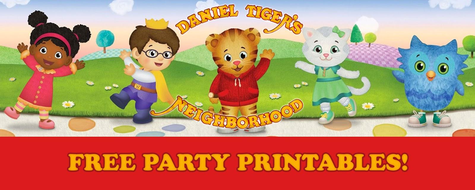 Luvibeekids Co Blog Daniel Tiger Birthday Party Printables Free Downloads
