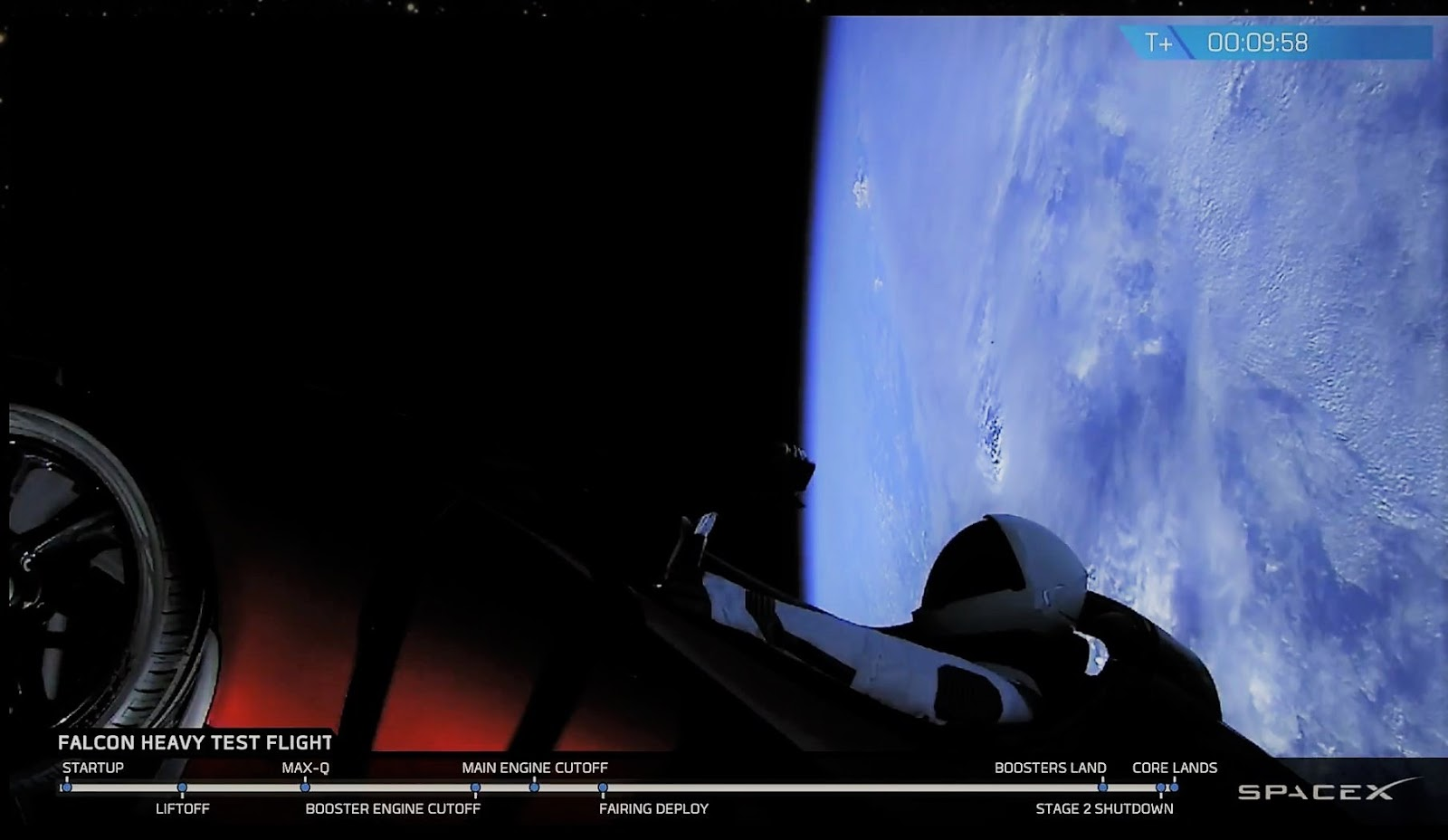 The Elegant Astronaut: Starman Is On His Way To Mars