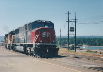 Southern Pacific SD70M #9800 in Vancouver, Washington, in Summer 1997