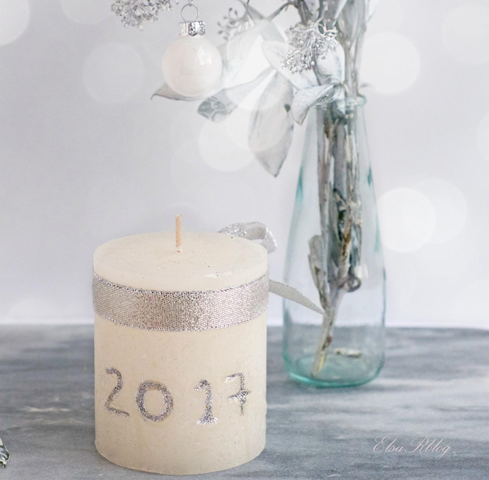 zelf een kaars maken voor nieuwjaar diy decoratie