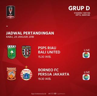 Jadwal Pertandingan Piala Presiden Rabu 24 Januari 2018