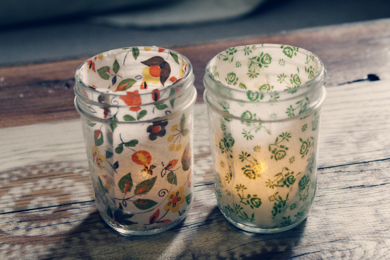 Diy Tea Light Holder Mason Jar Decorate