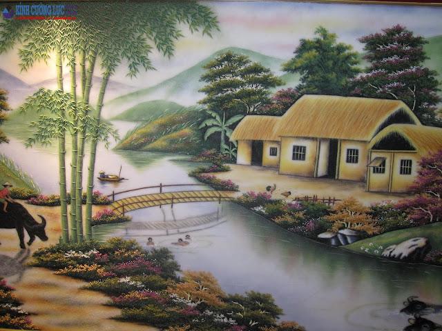 Ý nghĩa tranh kính cây tre trong phong thủy nhà ở, nơi làm việc