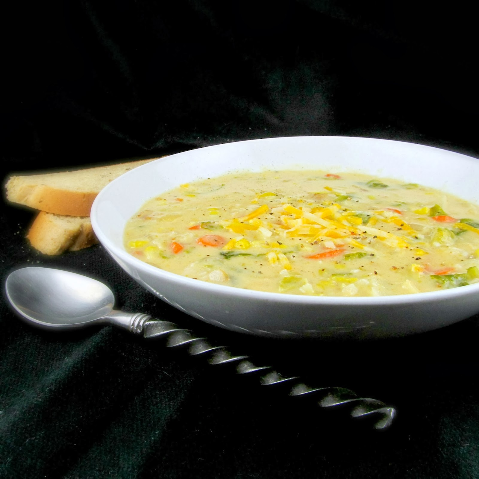 Easy Vegetable Soup: Rise And Shine: Easy Cheesy Vegetable Soup With Bacon