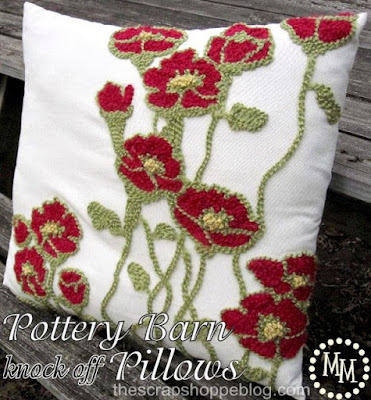 DIY Pottery Barn knock off pillows