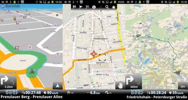 MapFactor GPS Navigation Screenshots