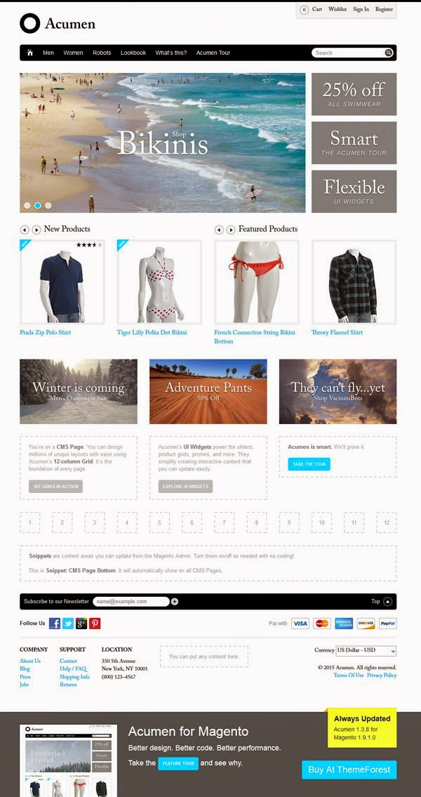Simple and Clean Magento Theme