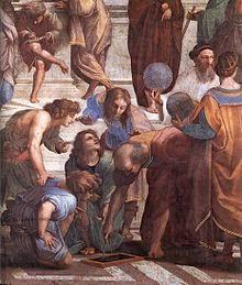 Gambar Euclid di Raphael 's School of Athens