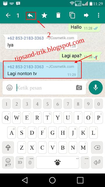 Trik Cara Mudah Quote Chat Di WhatsApp
