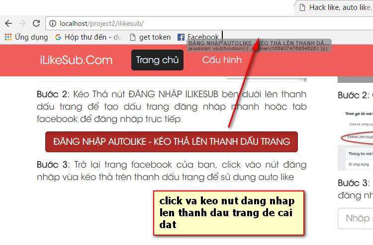 hướng dẫn Hack Like, Auto Like, Tăng Like trên máy tính bước 2